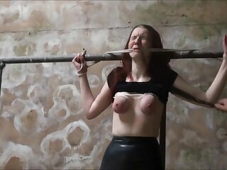 redhead breast racking