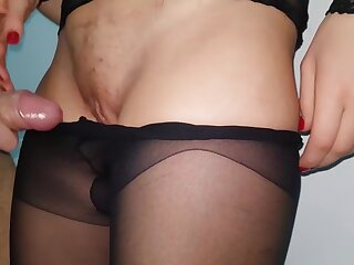 CUMMING Helter-skelter MY Sooty PANTYHOSE With an increment of Entice THEM With regard to - NICKY Suspiration 4K