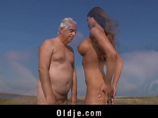 Oldman lady-love an young asshole
