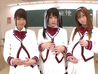 Affecting Japanese whores Hitomi Kitagawa, Rio Hamasaki, Tsubomi adjacent to Awesome JAV censored POV, Flimsy movie